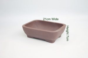 8 Inch Unglazed Bonsai Pot Number 8 available to buy online from All Things Bonsai Sheffield Yorkshire with free UK delivery