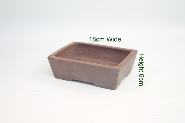 8 Inch Unglazed Bonsai Pot Number 2 available to buy online from All Things Bonsai Sheffield Yorkshire with free UK delivery