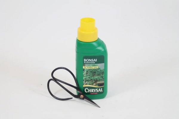 Bonsai Tree 2 Piece Care Set feed food fertiliser and scissors available to buy online from All Things Bonsai Sheffield Yorkshire with free UK delivery