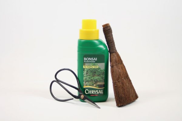 Bonsai tree 3 piece care set scissors fertiliser and brush from All Things Bonsai Sheffield Yorkshire with free UK delivery
