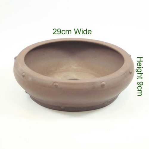 Round Unglazed Bonsai Pot available to buy online from All Things Bonsai Sheffield Yorkshire with free UK delivery