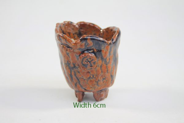 Accent Bonsai Pot Stuart Curry Brown Black Glaze available to buy online from All Things Bonsai Sheffield Yorkshire with free UK delivery