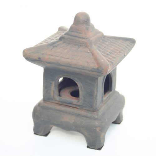 Ceramic Oriental Lantern Mini Grey available on buy online from All Things Bonsai Sheffield Yorkshire with free UK delivery