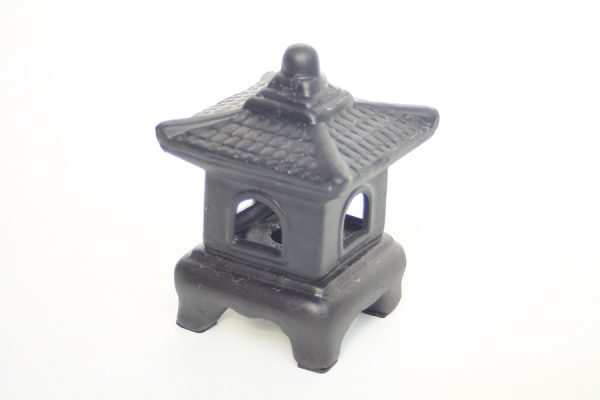Ceramic Oriental Lantern Mini Black available on buy online from All Things Bonsai Sheffield Yorkshire with free UK delivery