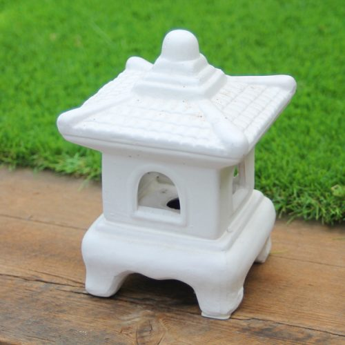 Ceramic Oriental Lantern Mini White available on buy online from All Things Bonsai Sheffield Yorkshire with free UK delivery