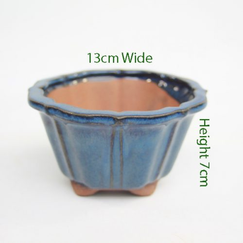 Cascade Bonsai Pot Blue Round Small available to buy online from All Things Bonsai Sheffield Yorkshire with free UK delivery