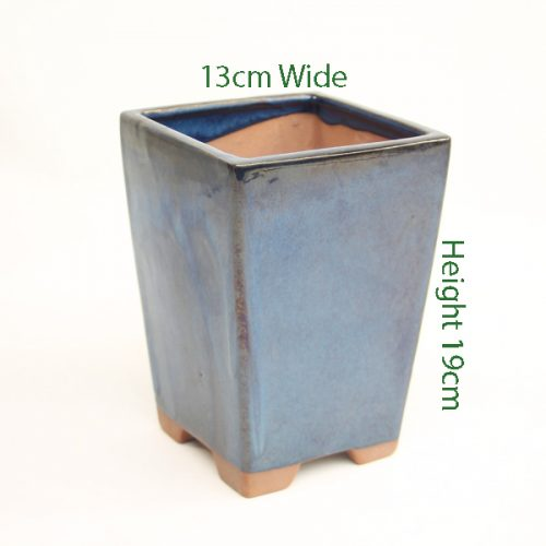 Cascade Bonsai Pot Blue Glazed available to buy online from All Things Bonsai Sheffield Yorkshire with free UK delivery