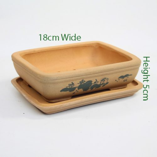 Painted Unglazed Bonsai Pot Sand 1 available to buy online from All Things Bonsai Sheffield Yorkshire with free UK delivery