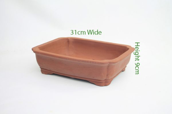 12 Inch Unglazed Bonsai Pot Number 2 available to buy online from All Things Bonsai Sheffield Yorkshire with free UK delivery