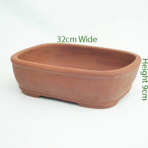 12 Inch Unglazed Bonsai Pot Number 7 available to buy online from All Things Bonsai Sheffield Yorkshire with free UK delivery
