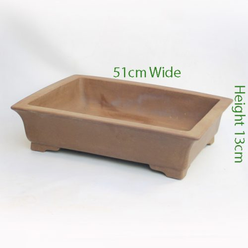 Unglazed Bonsai Pot Code C23large available to buy online from All Things Bonsai Sheffield Yorkshire with free UK delivery