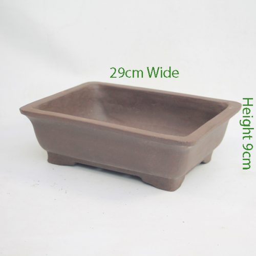 Unglazed Bonsai Pot Code REC1 available to buy online from All Things Bonsai Sheffield Yorkshire with free UK delivery