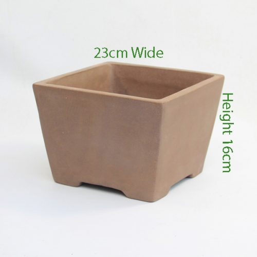 Cascade Bonsai Pot code SQ1 Large available to buy online from All Things Bonsai Sheffield Yorkshire with free UK delivery
