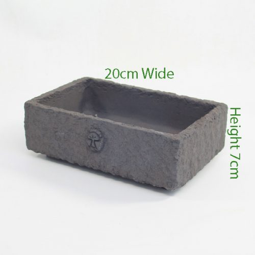 Bonsai Pot Stuart Curry Black Rectangle 1 available to buy online from All Things Bonsai Sheffield Yorkshire with free UK delivery