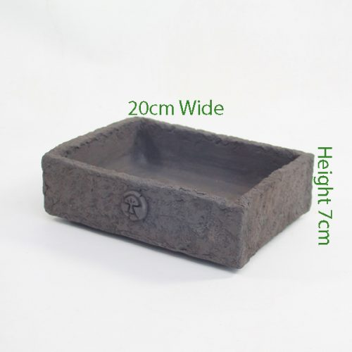 Bonsai Pot Stuart Curry Black Rectangle 2 available to buy online from All Things Bonsai Sheffield Yorkshire with free UK delivery