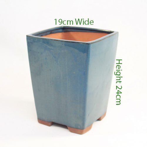 Cascade Bonsai Pot code S6 Large Blue available to buy online from All Things Bonsai Sheffield Yorkshire with free UK delivery