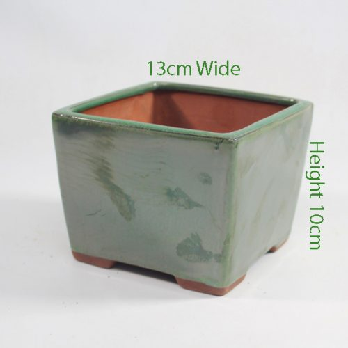 Cascade Bonsai Pot Green code FS29 Small available to buy online from All Things Bonsai Sheffield Yorkshire with free UK delivery