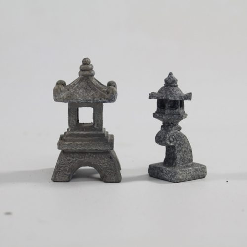 Miniature Pagoda and Lantern Ornaments available to buy online from All Things Bonsai Sheffield Yorkshire with free UK delivery