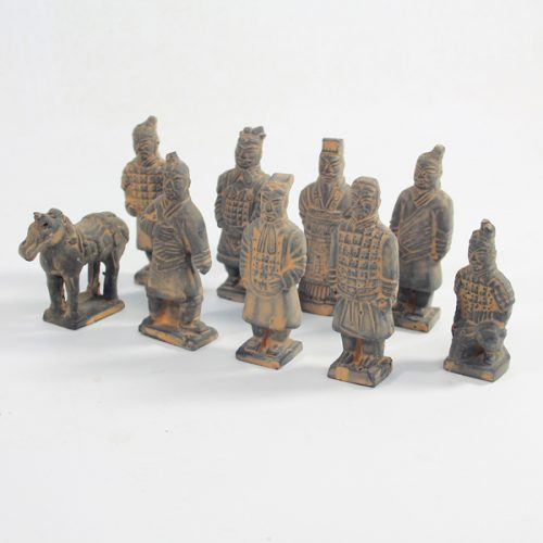 Terracotta Warrior Miniature Set available to buy online from All Things Bonsai Sheffield Yorkshire with free UK delivery