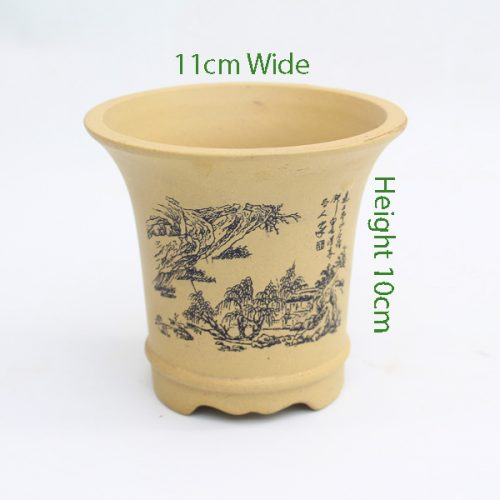 Mame Unglazed Painted Pot Sand available to buy online from All Things Bonsai Sheffield Yorkshire with free UK delivery