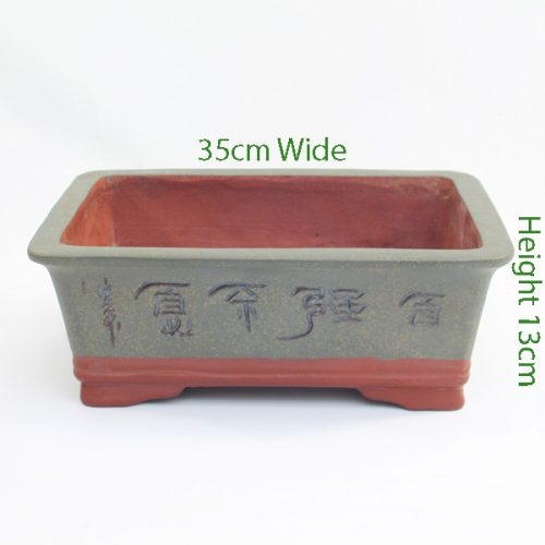 Painted Unglazed Bonsai Pot code ZH1 Large available to buy online from All Things Bonsai Sheffield Yorkshire with free UK delivery