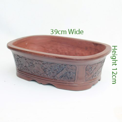 Unglazed Bonsai Pot code Z2 Large available to buy online from All Things Bonsai Sheffield Yorkshire with free UK delivery