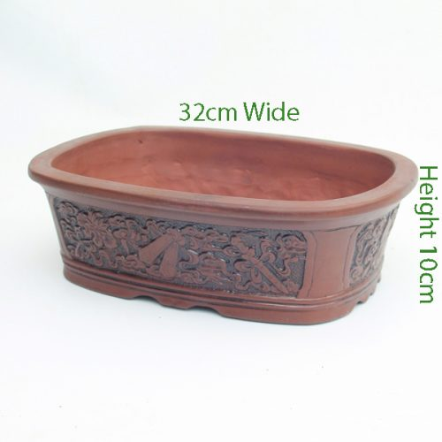 Unglazed Bonsai Pot code Z2 Small available to buy online from All Things Bonsai Sheffield Yorkshire with free UK delivery