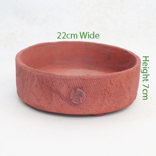 Bonsai Pot Stuart Curry Red Round Code SC2 available to buy online from All Things Bonsai Sheffield Yorkshire with free UK delivery