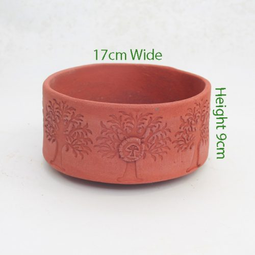 Bonsai Pot Stuart Curry Red Round Code SC3 available to buy online from All Things Bonsai Sheffield Yorkshire with free UK delivery
