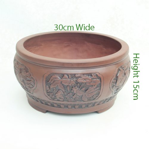 Unglazed Bonsai Pot code Z4 Small available to buy online from All Things Bonsai Sheffield Yorkshire with free UK delivery