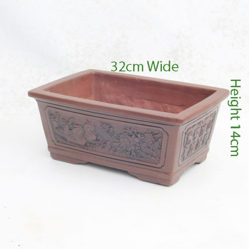 Unglazed Bonsai Pot code Z3 Small available to buy online from All Things Bonsai Sheffield Yorkshire with free UK delivery