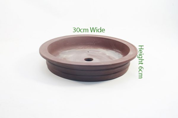 Unglazed Round Bonsai Pot Code PC007 Small available to buy online from All Things Bonsai Sheffield Yorkshire with free UK delivery