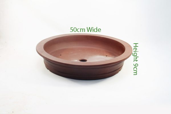 Unglazed Round Bonsai Pot Code PC007 Large available to buy online from All Things Bonsai Sheffield Yorkshire with free UK delivery
