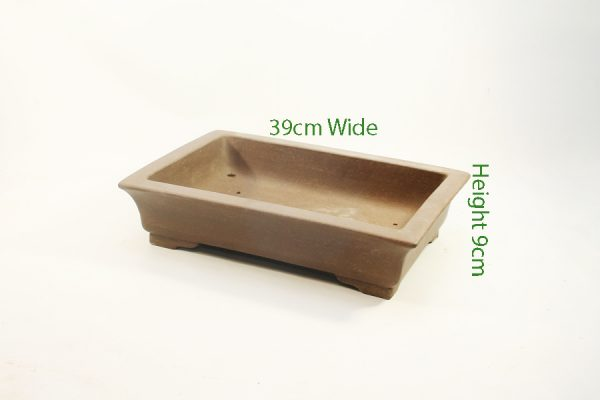 Unglazed Bonsai Pot Code C23 Small available to buy online from All Things Bonsai Sheffield Yorkshire with free UK delivery