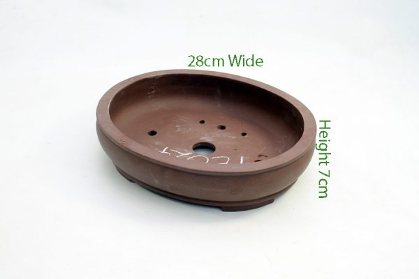 Unglazed Bonsai Pot code PE024 Large available to buy online from All Things Bonsai Sheffield Yorkshire with free UK delivery