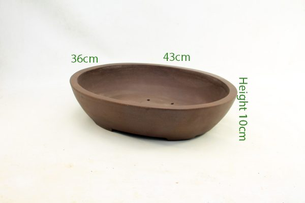 Unglazed Bonsai Pot code ZC23 Large available to buy online from All Things Bonsai Sheffield Yorkshire with free UK delivery