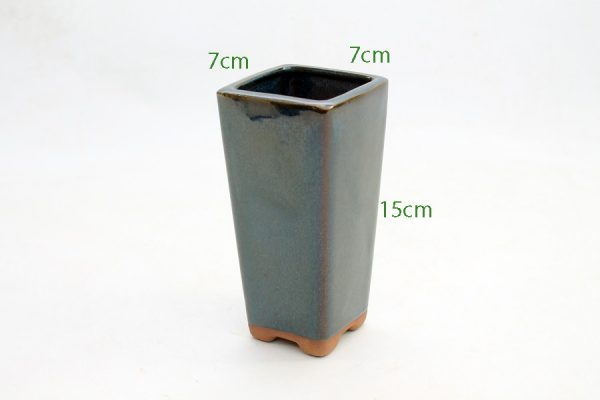 Cascade Bonsai Pot Mini Blue available to buy online from All Things Bonsai Sheffield Yorkshire with free UK delivery